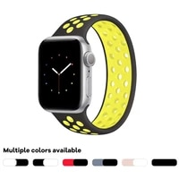 compatible with apple watch band 38mm 40mm 42mm 44mm sport elastics silicone apple watch bands women men replacement wristband
