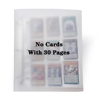 Cards Holder Albums With 30 Pages For 6 7 9 2cm Board Game Cards Album Book Sleeve Holder