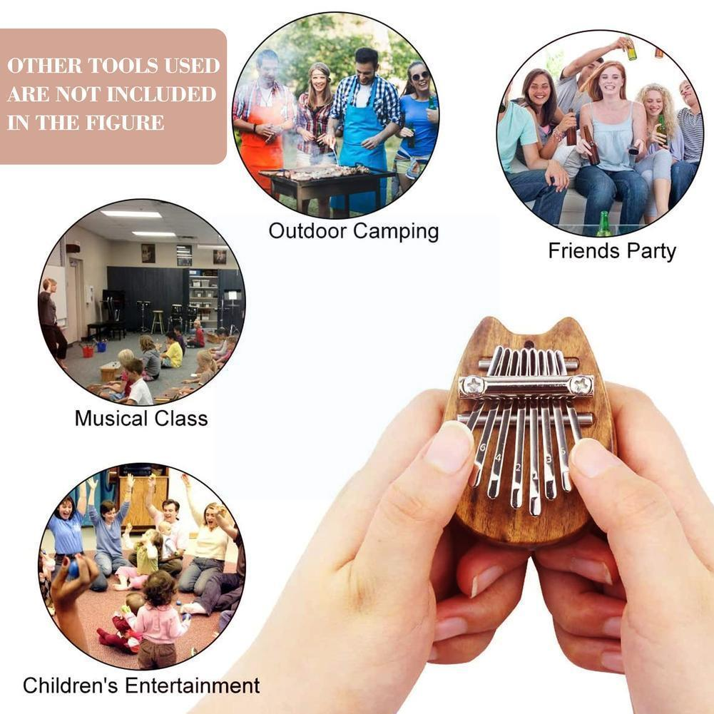 8 Key Kalimba Portable Mini Thumb Piano Practice For Beginners For Children Musical Toys Holiday Gifts M1I2