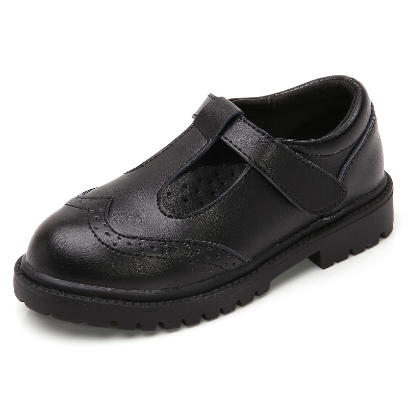 Детская повседневная обувь для мальчиков и девочек в шести стилях; Детские Нескользящие кроссовки; Черная обувь из кожи для танцев для студ...