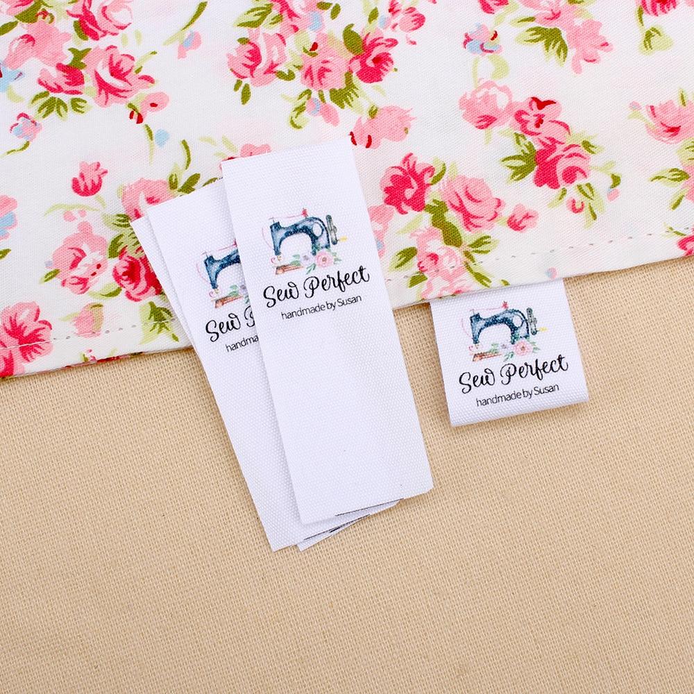 Etiquetas de ropa personalizadas-etiquetas de marca, etiquetas de Boutique, logotipo o texto, cinta de algodón orgánico (MD3039)