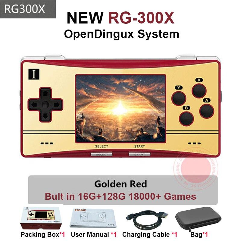 Anberonic RG300X ريترو المحمولة لعبة وحدة التحكم دقيقة لعبة فيديو لاعب ل PS1 ألعاب دعم HD خارج بنيت في 18000 ألعاب الاطفال هدية