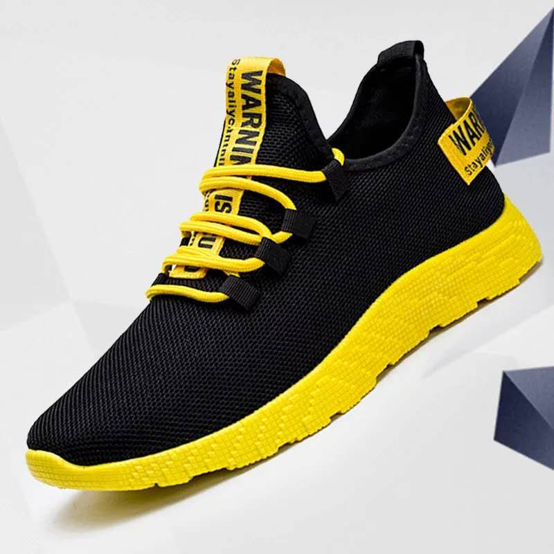 Zapatillas de deporte de malla transpirable para hombre, zapatos informales vulcanizados, zapatillas de correr ligeras para hombre, zapatos de caminar de moda de verano, Size38-47 grandes