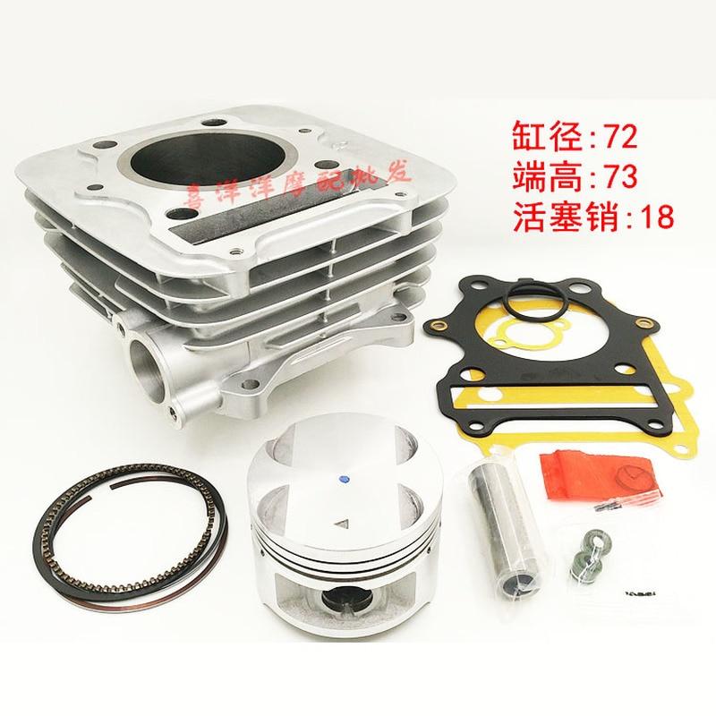 72MM 249cc Motorrad Zylinder Kit Mit Kolben Zylinder block Und Pin für SUZUKI GN250 GZ250 DF250 LT250 DR250 GN 250 250cc