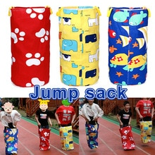 Colorful Printed Jumping Bag Play Outdoor Sports Games for Kids Children Potato Sack Race Bags Kanga