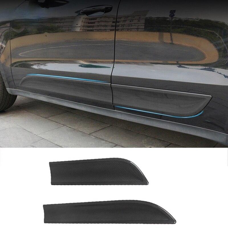 حماية باب السيارة لبورش ماكان ألياف الكربون غطاء ألواح الباب طقم الجسم الكسوة إضافة على نمط 2014 2015 2016 2017 2018 2020