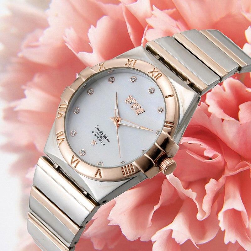 YUNAO 2021 New Fashion Quartz Watch Ladies Steel Band High-End Watches Quartz Women's with Diamonds British Watch enlarge