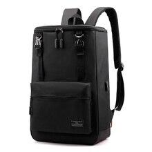 Casual USB Charging Computer Backpack Men Mochilas Mujer Marca Famosa Korean Student Schoolbag College Business Travel Plecak