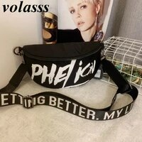 volasss shoulder bag fashion woman new waist packs hip hop style women adjustable shoulder strap crossbody sports messenger bags