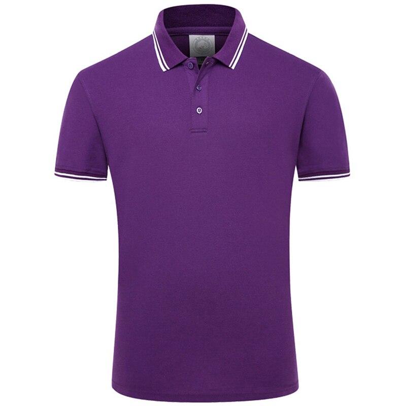 Новинка 2020, одноцветные летние рубашки поло для мужчин, хлопковые, с коротким рукавом, дышащие, с защитой от катышков, брендовые поло para hombre размера плюс S-4XL