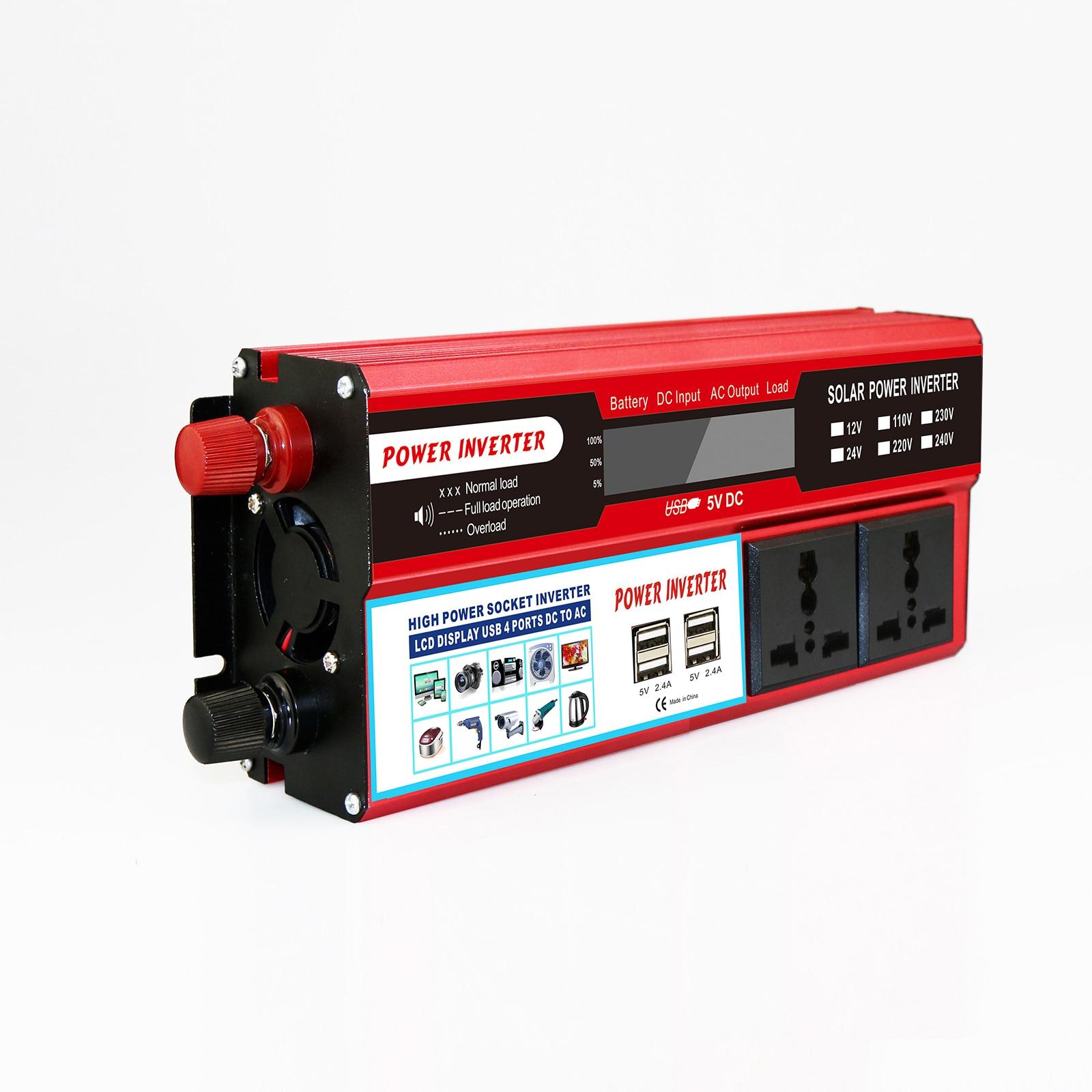 7000W Peak Solar Power Inverter DC 12V  AC220V-240V USB LED Modified Sine Wave Voltage Transformer Car Adapter Charge Converter