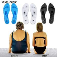 Men And Women PVC Insole Foot Magnetic Therapy Health Care Insole Running Fitness Weight Loss Sports
