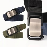 new mens fabric belt toothless automatic buckle mens belts casual joker neutral young men women police tactical waistband