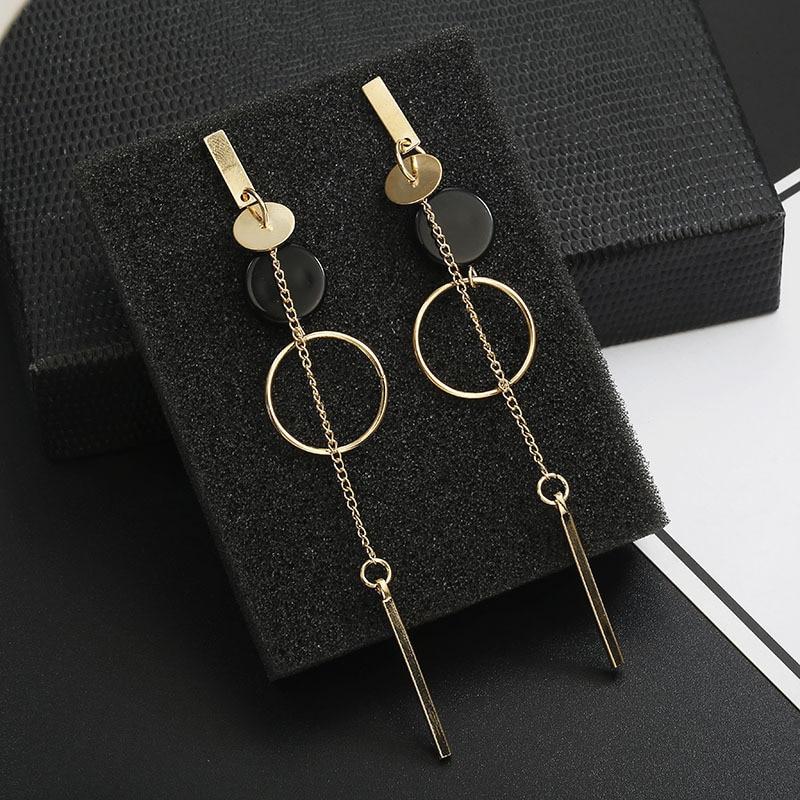 2019 new Fashion Long Slope Geometric circle earrings new Acrylic earring for women Gift