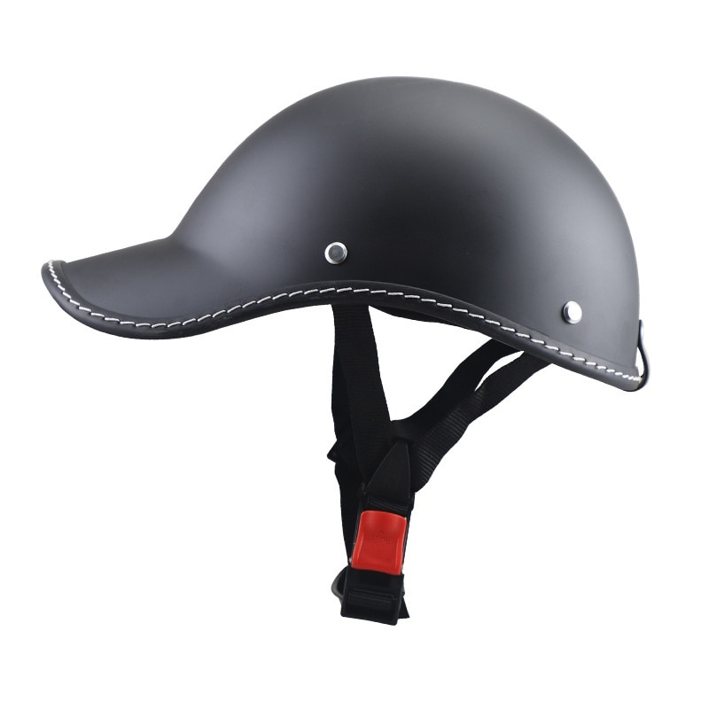 Motorcycle Half Helmet Baseball Cap Style Half Face Helmet Electric Bike Scooter Anti-UV Safety Hat Hard Vintage HalfFace Helmet