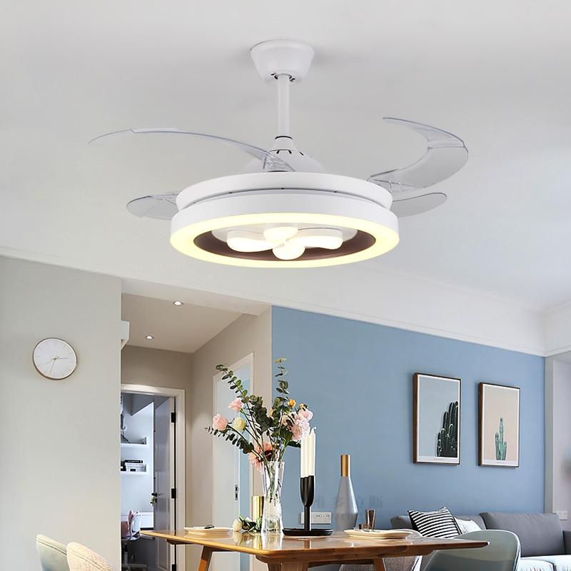 Padn ventilador de teto moderno com luzes de controle remoto, lâmpadas led para sala de jantar, quarto, ac 220v, para áreas internas luminárias leves
