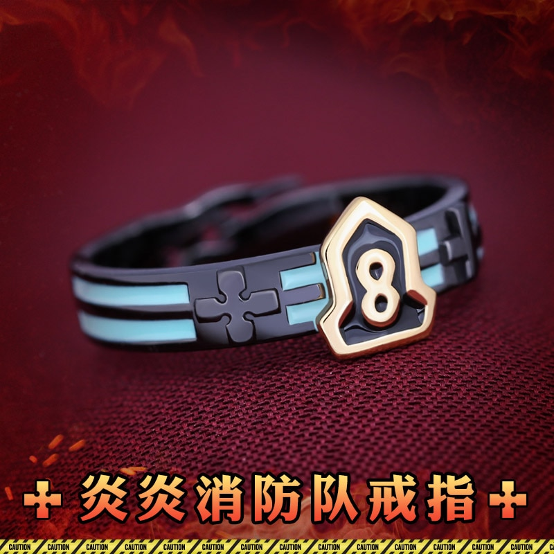 خاتم فضة رجالي ونسائي ، مجوهرات تنكرية ، شخصية كرتونية ، Enn ، No Shouboutai ، Fire Force ، Shinra ، Kusakabe ، S925