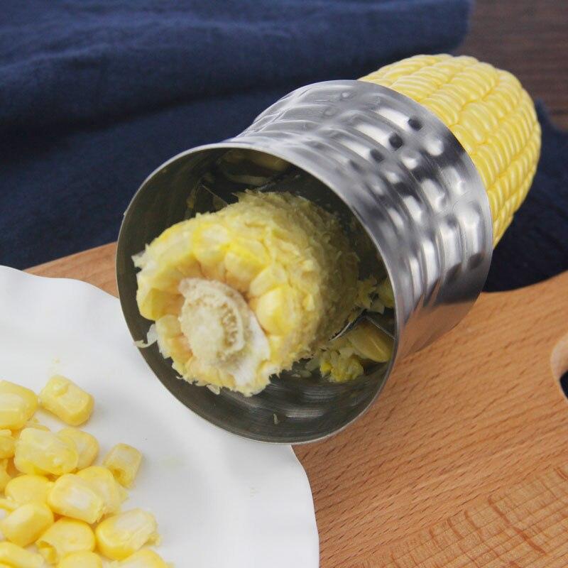 Pelador de maíz de acero inoxidable agarre antideslizante cortador de maíz removedor de grano AC889