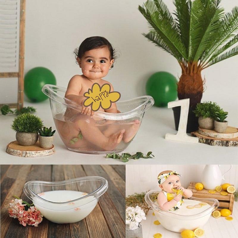 Newborn Photography Props Transparent Bathtub  Bucket Baby Photography Furniture Boy Girl Boy Fotografie Accessoires Posing