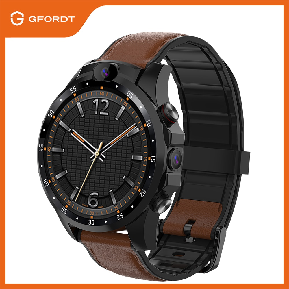 V9A Android 7.1 Smart Watch SIM Card 4G 3GB+32GB 1.56 Screen Dual 5MP Camera Phone Call WiFi GPS Smartwatch Connect Android IOS gocomma w5 h1 c aladeng 4g gps wifi location smart watch phone android system clock app install bluetooth smartwatch 4g sim card