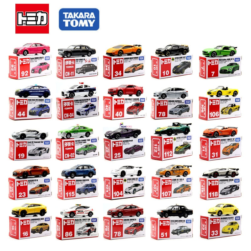 Kid Gifts Takara TOMY Tomica Diecast Simulation Miniature Metal Model Vehicle Anime Collectibles Car Classic Toys For Children