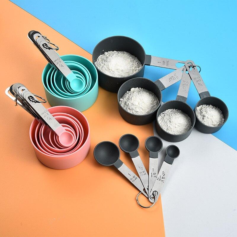 4 unids/set cocina accesorios de cocina té cuchara de medir Café Nueva Durable de acero inoxidable taza de medición de herramientas
