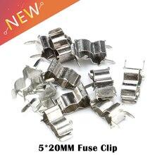 100 unids/lote 5mm x 20mm bases 5X20 soporte de tubo fusible para 5*20 fusible seguro clip