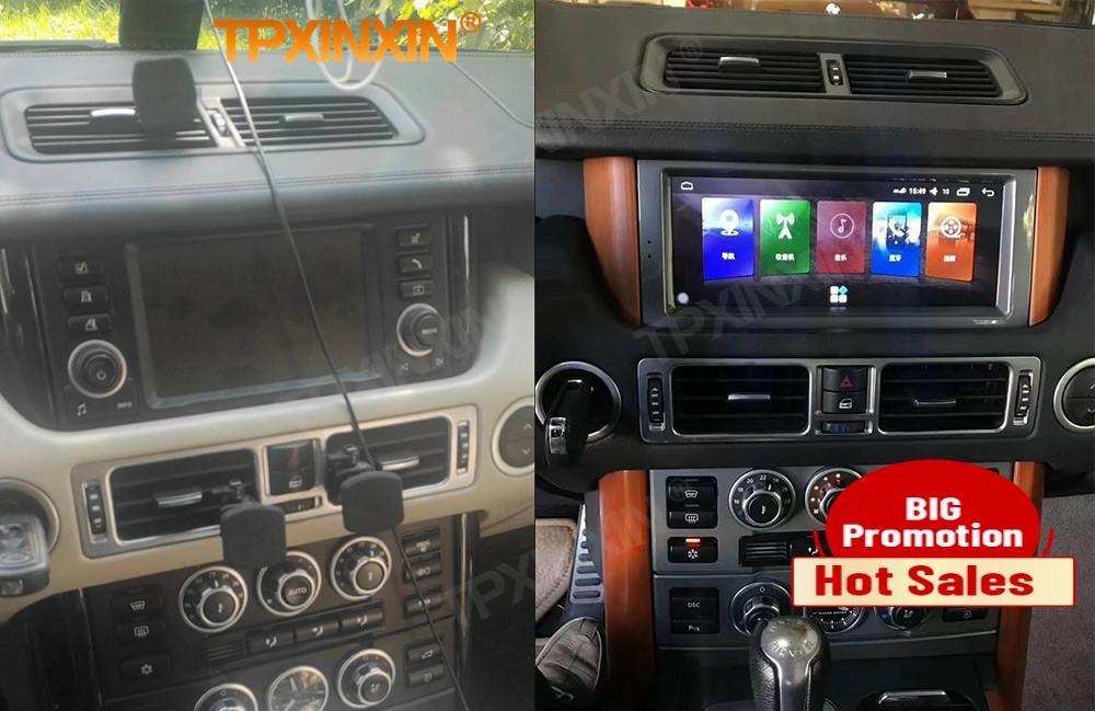 Carplay الروبوت 10 راديو استقبال لمجموعة لاند روفر رواج V8 L322 2002 2003 2004 2005 2006 2007 2008-2012 GPS فيديو رئيس وحدة