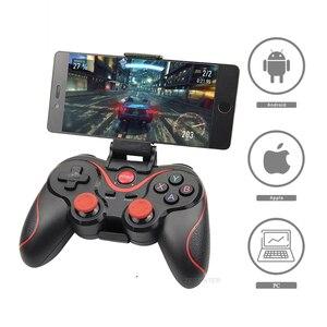 Беспроводной игровой контроллер Bluetooth 3,0 Terios T3/X3 для PS3/Android смартфонов планшетных ПК с держателем для ТВ-бокса T3 + пульт дистанционного управ...