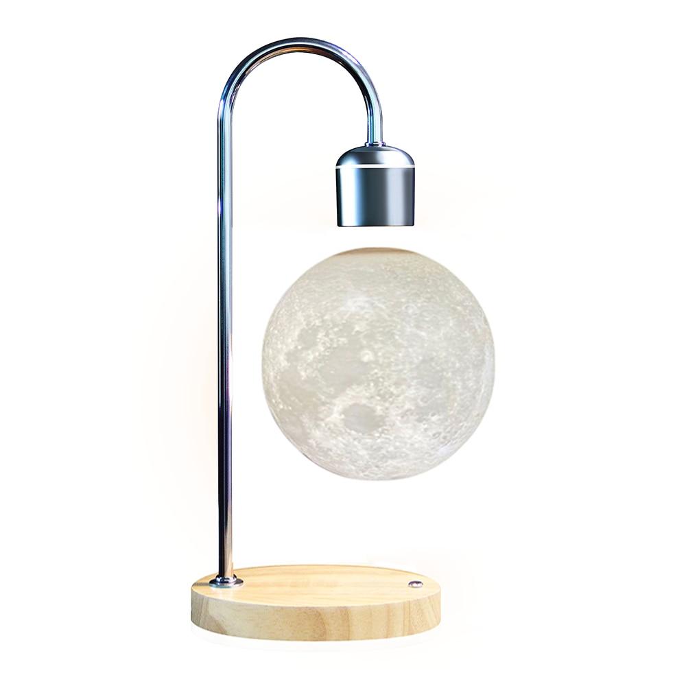 New Magnetic Levitation Lamp LED Wireless Mobile Phone Charging Night Lights Desktop Table Light for Bedroom Floating Moon Lamps enlarge