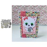 cute baby cat with cupcake scrapbooking paper metal craft dies for card making cut dies 2021 embossing new