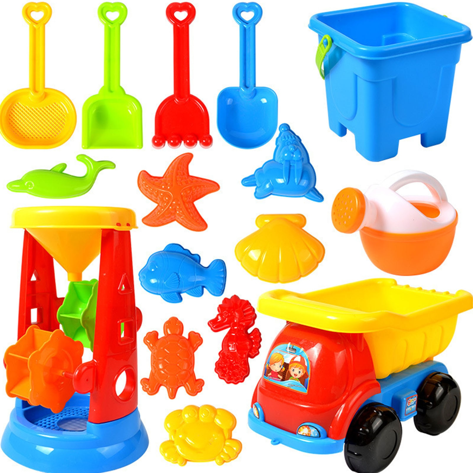 Summer Sand Box Beach Toy Set Sand Bucket Set Sand Playing Toys For Children Outdoor Beach Tool Sand Toys Kits Gifts starry sky sand beach toy 18 piece sand set magic space clay sand puzzle power toys