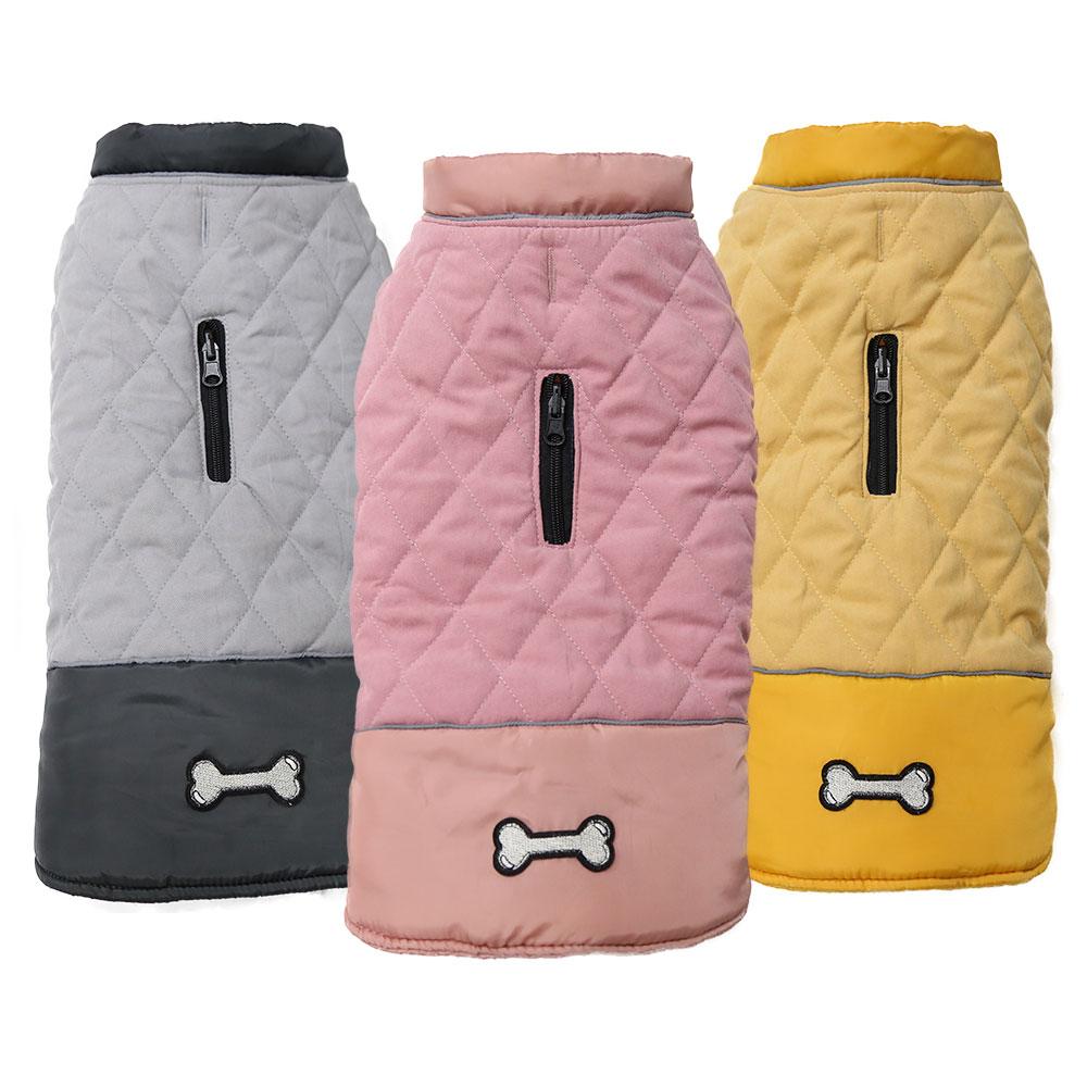 Ropa de invierno Para perros pequeños, chaqueta cálida, Abrigo, chaleco sin mangas...