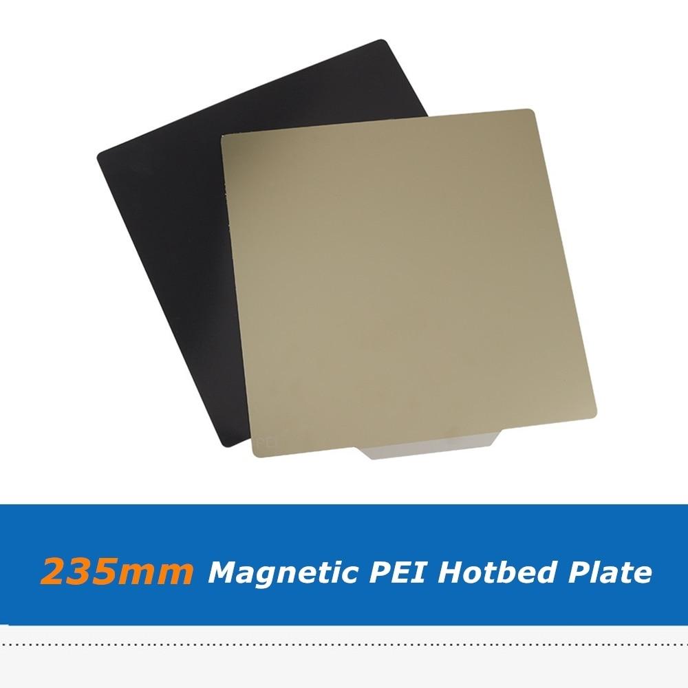 235*235 مللي متر PEI ملصق مغناطيسي لوح فولاذي مرن يسخن سرير لكرياليتي أندر 3/أندر 5 قطع غيار منصة طابعة ثلاثية الأبعاد