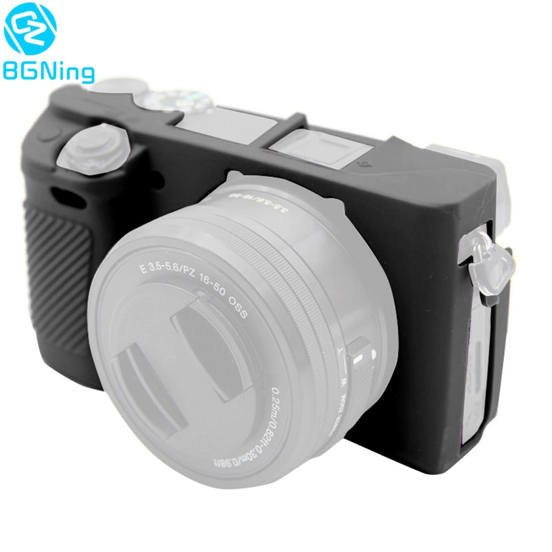 BGNing funda protectora de silicona suave para cámara Alpha A6300 a prueba de golpes piel del cuerpo Anti-scrach SLR DSLR bolsa para Sony A6500