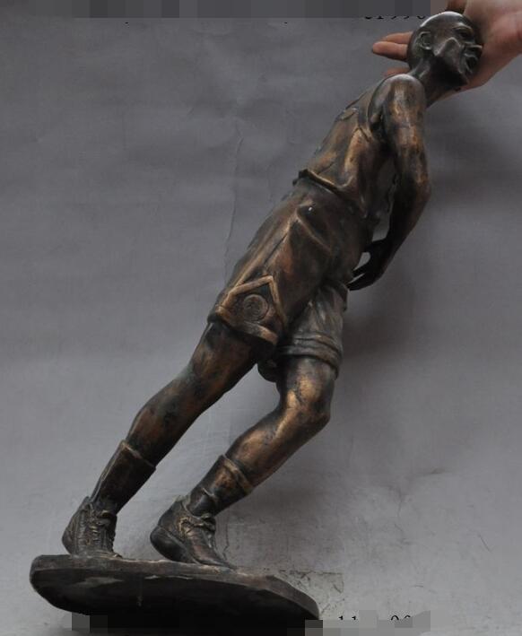 S0738 famosa de América de bronce Michael Jordan QiaoDan gran jugador de baloncesto estatua de arte descuento 30% (C0324)