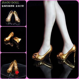 1/6 Female shoes soldier figure fashion sexy high heels Fish mouth shoes High Heel Shoes  For 6 Inches 12 Inches Action
