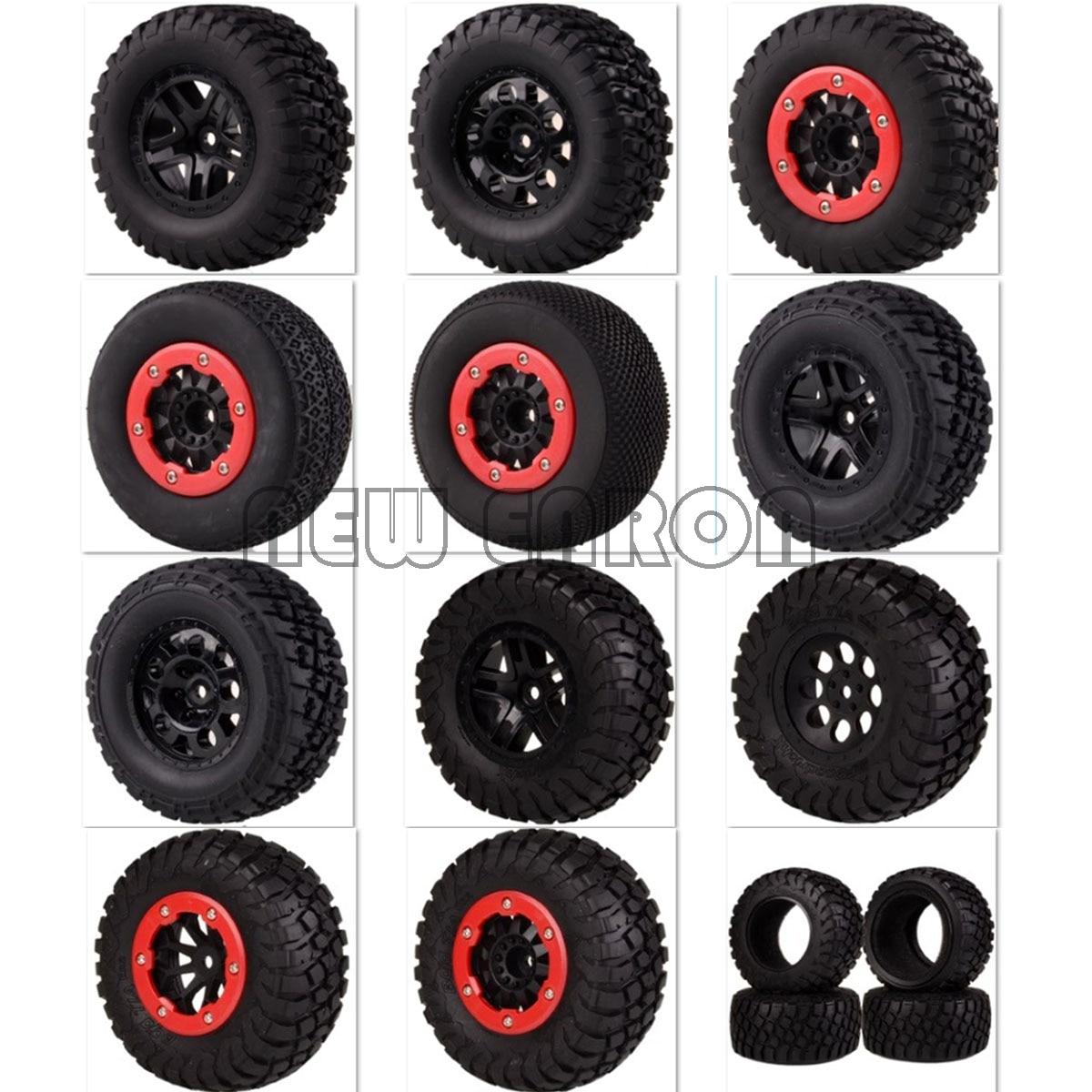 Nouveau pneu de camion de Course courte ENRON 4 pièces avec blocage des billes et moyeu de jante 12MM HEX pour ajustement 1:10 1/10 Traxxas Slash 4x4 VKAR 10SC HPI