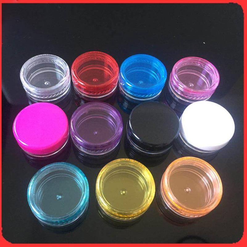 100Pcs Plastic Small Bottle Cosmetic Empty Jar Pot Eyeshadow Lip Balm Face Cream Sample Container 5g Sample Pots недорого