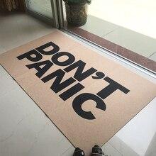Paillasson sur mesure tapis de sol dentrée paillasson drôle tapis de porte anti-panique paillasson extérieur intérieur décoratif dessus en tissu Non tissé