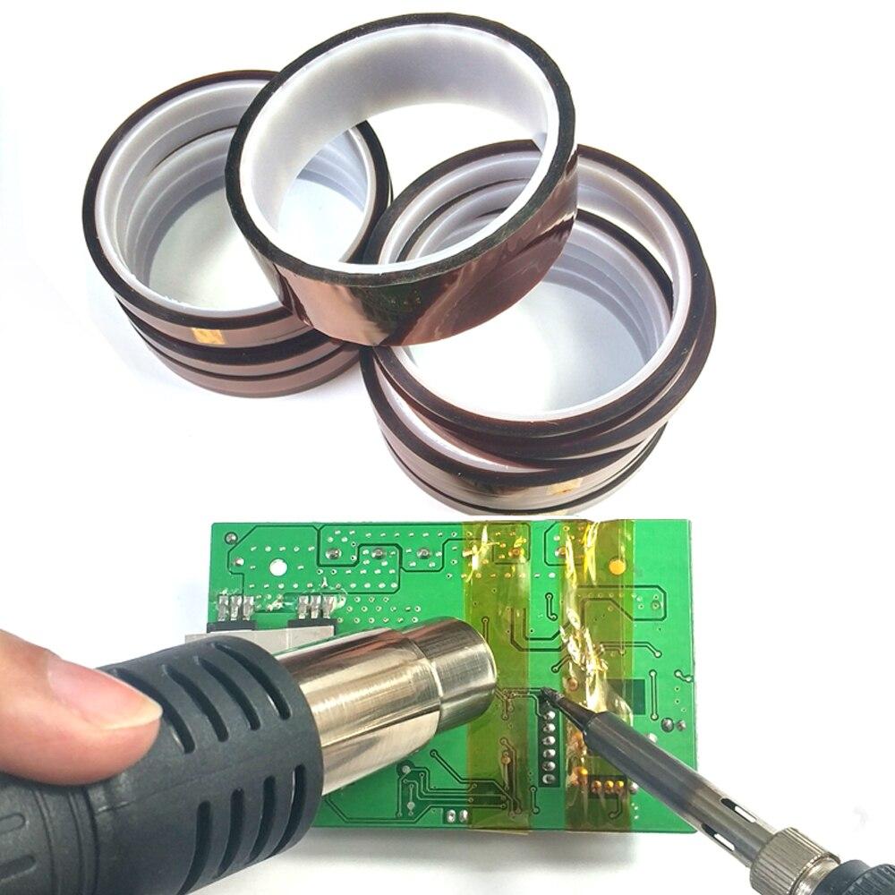 33 metros aislamiento Antiestático de alta temperatura cinta resistente al calor BGA aislamiento térmico cinta poliimida adhesivo aislamiento cinta adhesiva