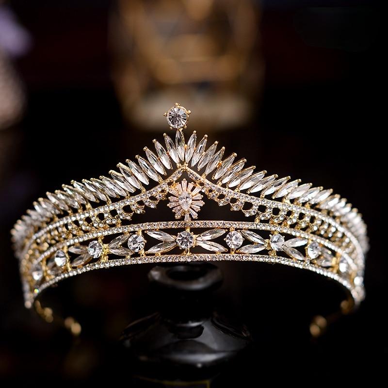 Diadema retro para el cabello de boda, diadema de Reina increíble, joyería...