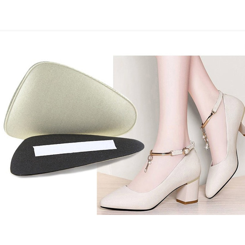 1pair Anti-slip Women Sponge Forefoot Pads High Heels Shoes Cushion Half Yard Insert Pad Foot Care Front Insoles