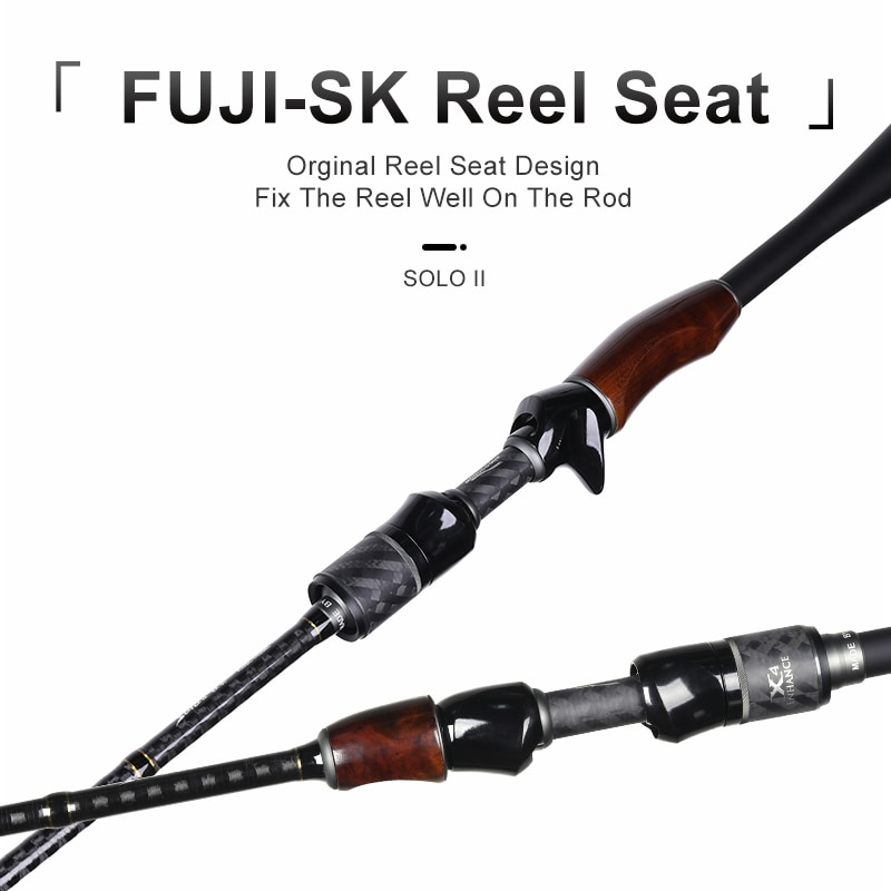 Kingdom Solo II Fishing Rods FUJI Ring and SK Reel Seat Spinning Rod High Quality wooden handle Sea and Freshwater Casting Rods enlarge