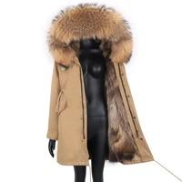 2021 women long parka real fur coat 7xl winter jacket women natural real fox fur coats outerwear streetwear casual oversize new