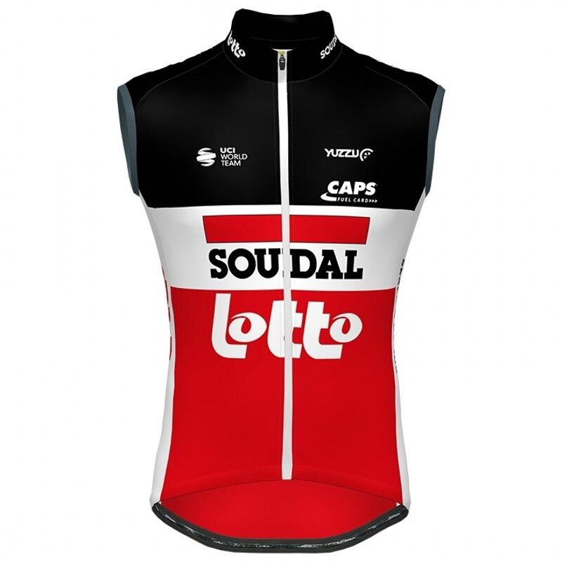 2020 nova equipe pro loto soudal windvest ciclismo colete respirável sem mangas maillot mtb ropa ciclismo windstopper gilet