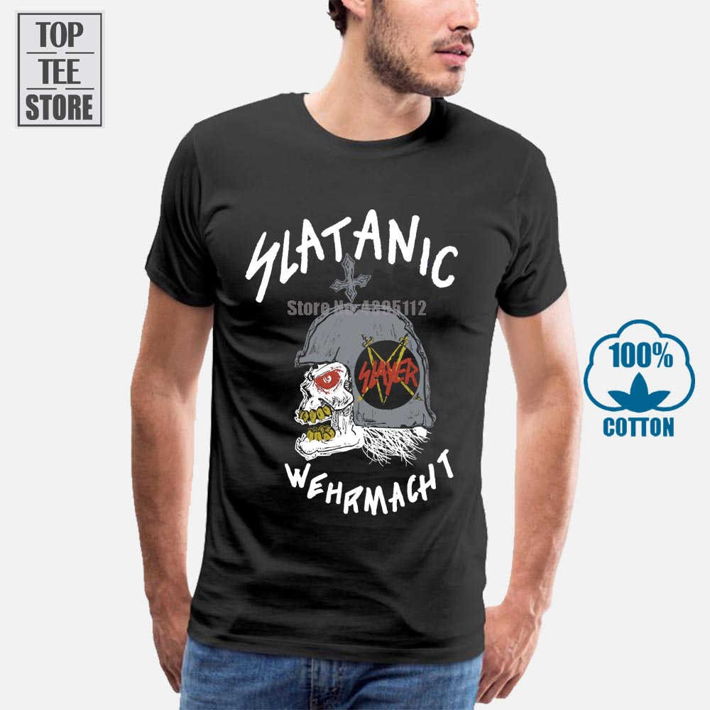 Slayer Wehrmacht Slatanic Tour 1985 Preto do vintage T Shirt Camiseta Xs 2Xl
