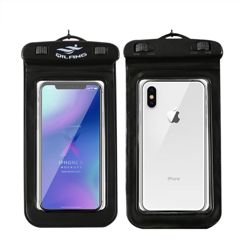 Teléfono Móvil cubierta de mochila a prueba de agua pantalla táctil cámara HD sumergible Universal 6 pulgadas Universal buceo conjunto