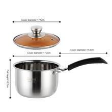 Casserole à ragoût coréenne à poignée unique   Marmite à soupe super épaisse, à fond non magnétique antiadhésif, marmite ramen, aliments domestiques, pot à lait h3