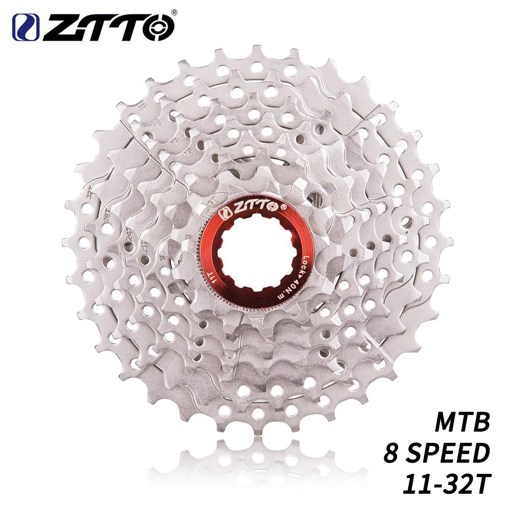 HiMISS ZTTO 8 Speed 11-32T MTB bicicleta Cassette bicicleta de montaña acero 8s 8v K7 rueda libre volante piezas de bicicleta